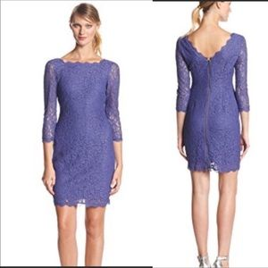 Adrienne Papell Lace Dress - Purple - Sz 10